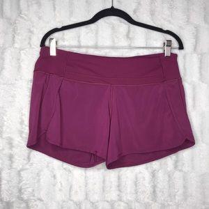 Lululemon Speed Running Magenta Purple Shorts